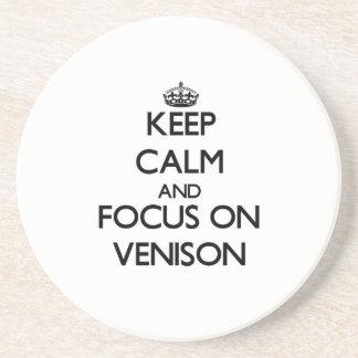 Keep Calm and focus on Venison Coaster