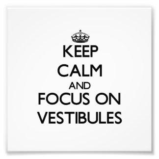 Keep Calm and focus on Vestibules Photo