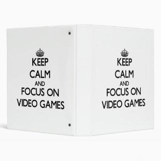Keep Calm and focus on Video Games Vinyl Binder