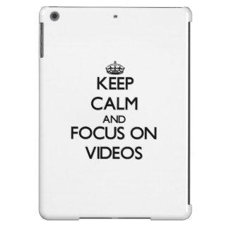Keep Calm and focus on Videos iPad Air Case