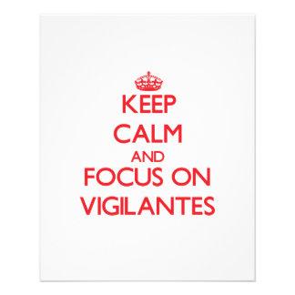 Keep Calm and focus on Vigilantes Custom Flyer