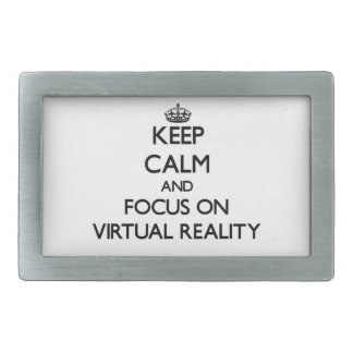 Keep Calm and focus on Virtual Reality Belt Buckle