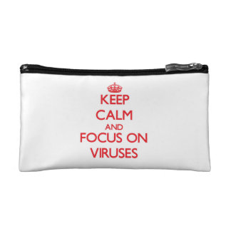 Keep Calm and focus on Viruses Cosmetic Bags