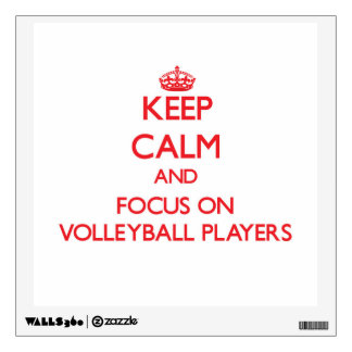 Keep Calm and focus on Volleyball Players Room Stickers