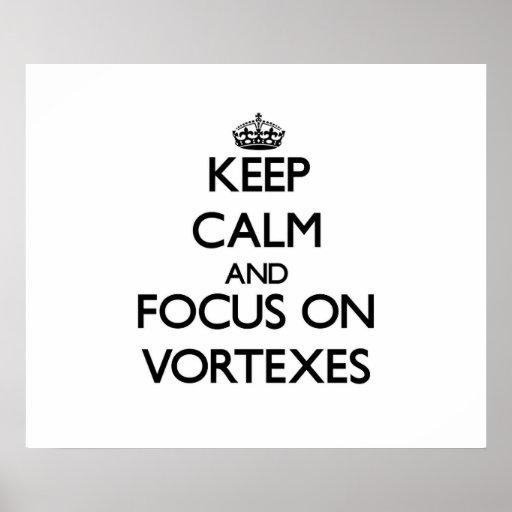 Keep Calm and focus on Vortexes Print