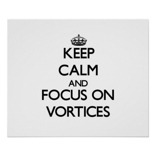 Keep Calm and focus on Vortices Poster