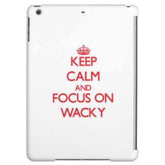 Keep Calm and focus on Wacky iPad Air Case
