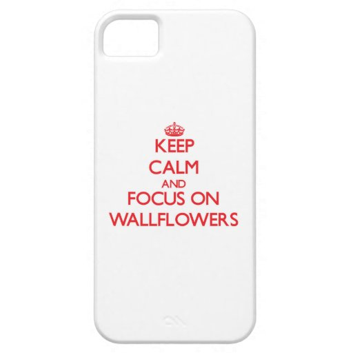 Keep Calm and focus on Wallflowers iPhone 5 Case