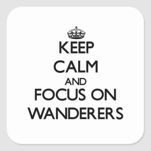 Keep Calm and focus on Wanderers Sticker