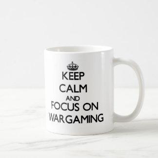 Keep calm and focus on Wargaming Coffee Mugs