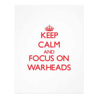 Keep Calm and focus on Warheads Flyer