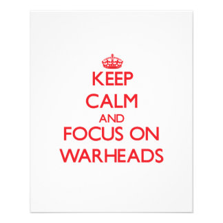 Keep Calm and focus on Warheads Personalized Flyer