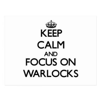 Keep Calm and focus on Warlocks Post Cards
