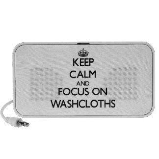 Keep Calm and focus on Washcloths Speakers