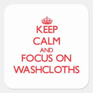 Keep Calm and focus on Washcloths Sticker