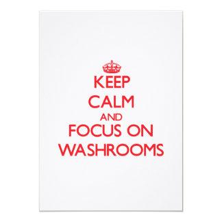 Keep Calm and focus on Washrooms Custom Invitations