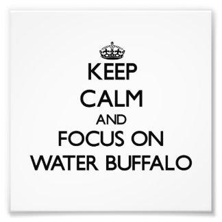 Keep Calm and focus on Water Buffalo Photo Print