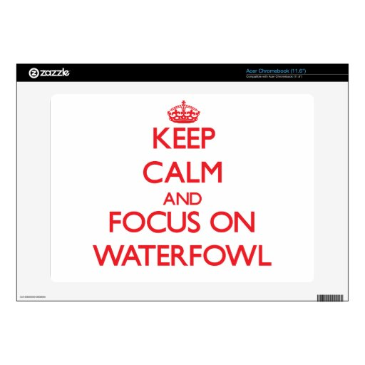 Keep calm and focus on Waterfowl Acer Chromebook Decal