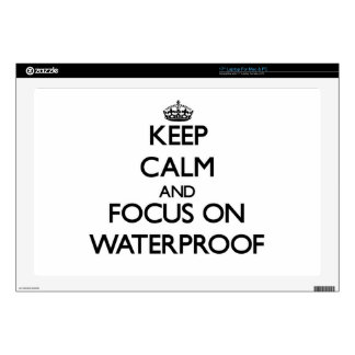 Keep Calm and focus on Waterproof Skin For Laptop
