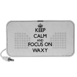 Keep Calm and focus on Waxy iPod Speakers