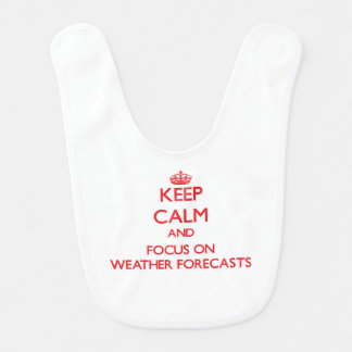 Keep Calm and focus on Weather Forecasts Bib