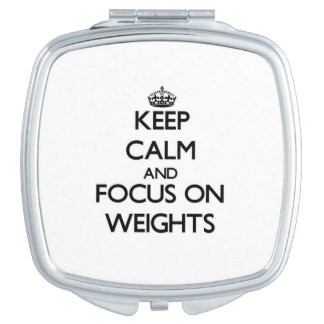 Keep Calm and focus on Weights Vanity Mirror