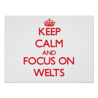 Keep Calm and focus on Welts Poster