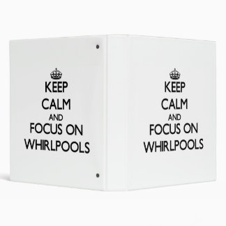 Keep Calm and focus on Whirlpools 3 Ring Binder