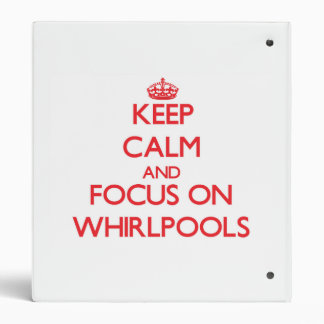Keep Calm and focus on Whirlpools 3 Ring Binders