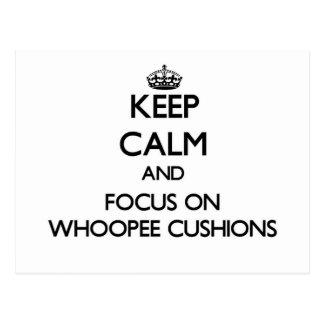Keep Calm and focus on Whoopee Cushions Postcard