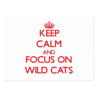 Keep calm and focus on Wild Cats Business Card