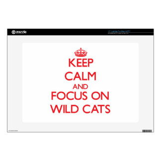 """Keep calm and focus on Wild Cats Decal For 15"""" Laptop"""