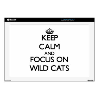 Keep calm and focus on Wild Cats Skin For Laptop