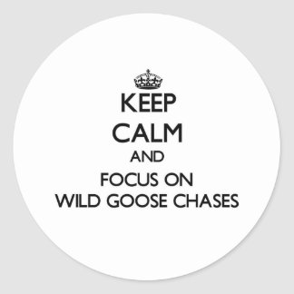 Keep Calm and focus on Wild Goose Chases Sticker