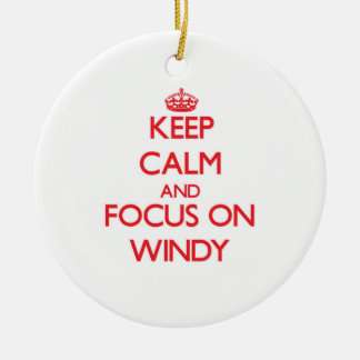 Keep Calm and focus on Windy Christmas Tree Ornaments