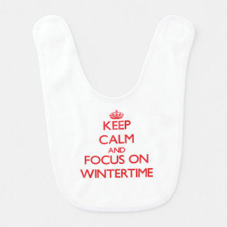 Keep Calm and focus on Wintertime Baby Bibs