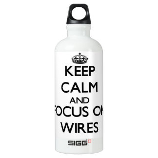 Keep Calm and focus on Wires SIGG Traveler 0.6L Water Bottle