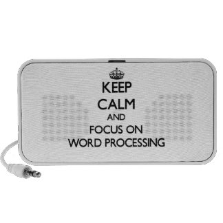 Keep Calm and focus on Word Processing iPhone Speaker