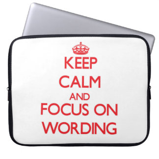 Keep Calm and focus on Wording Laptop Computer Sleeve
