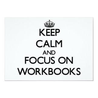Keep Calm and focus on Workbooks Cards