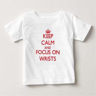 Keep Calm and focus on Wrists Tee Shirts