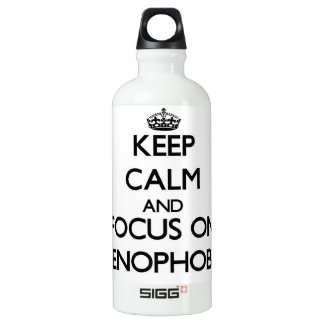 Keep Calm and focus on Xenophobic SIGG Traveler 0.6L Water Bottle
