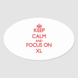 Keep Calm and focus on Xl Oval Stickers