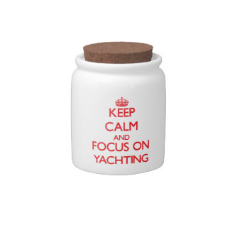 Keep calm and focus on Yachting Candy Jar