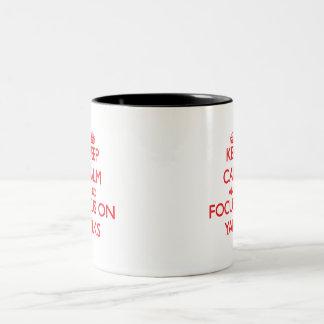 Keep calm and focus on Yaks Coffee Mugs