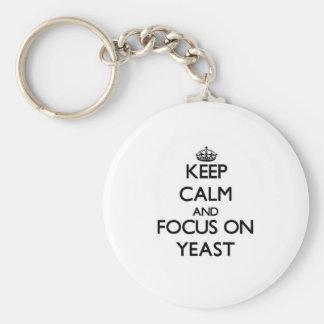 Keep Calm and focus on Yeast Keychain