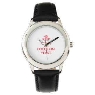 Keep Calm and focus on Yeast Wrist Watches