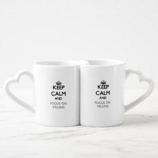 Keep Calm and focus on Yelling Lovers Mug Sets
