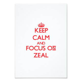 Keep Calm and focus on Zeal Announcement