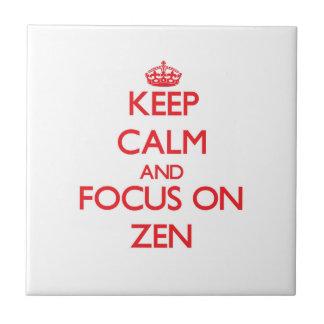 Keep Calm and focus on Zen Ceramic Tile